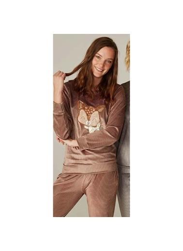Feyza Pijama Takım Kahve